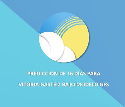 predicción de 16 días para vitoria-gasteiz bajo modelo GFS